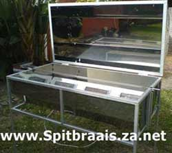 Commercial spitbraais - open with 3 burners